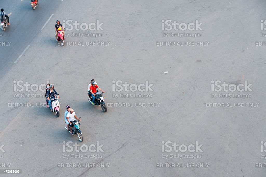 Motorcycles On A Road Junction royalty-free stock photo