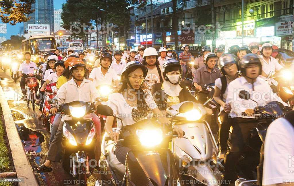 Motorcycles riders in Vietnam royalty-free stock photo