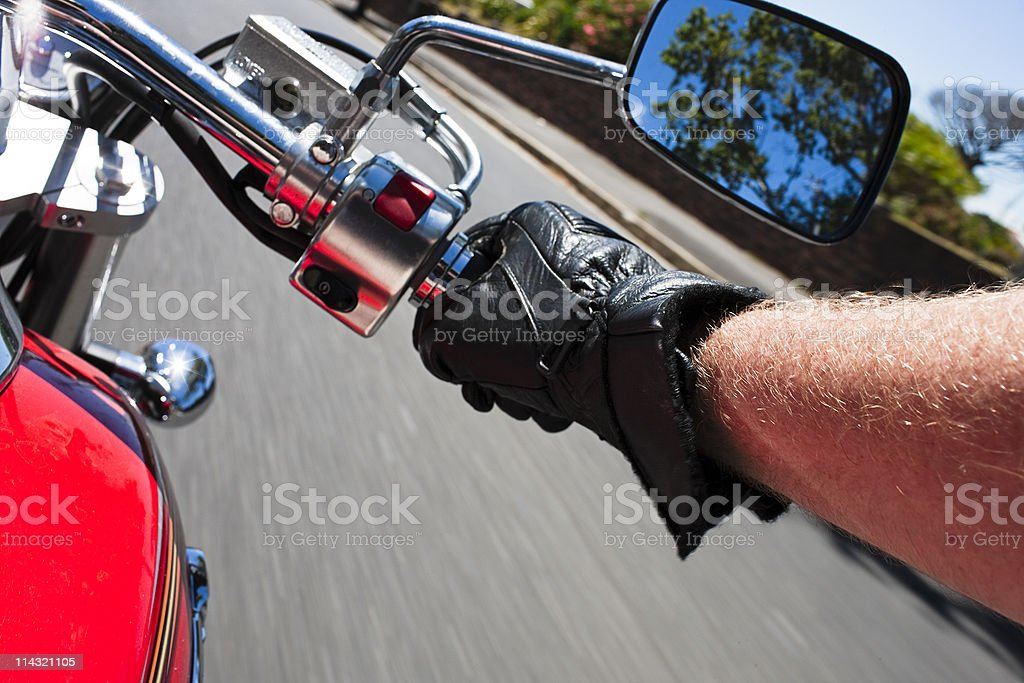 Motorcycling stock photo