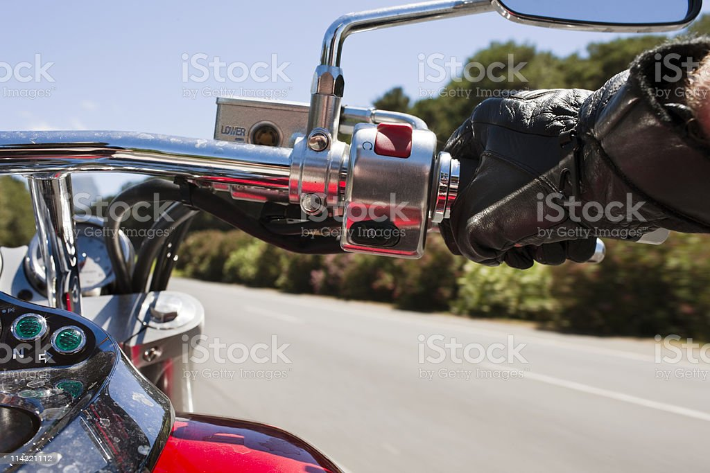 Motorcycling royalty-free stock photo
