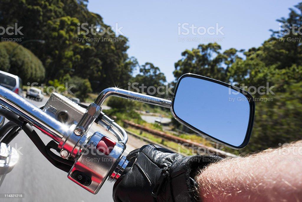 Motorcycling royalty-free stock photo