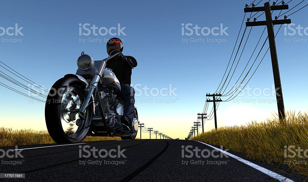 Motorcyclist stock photo