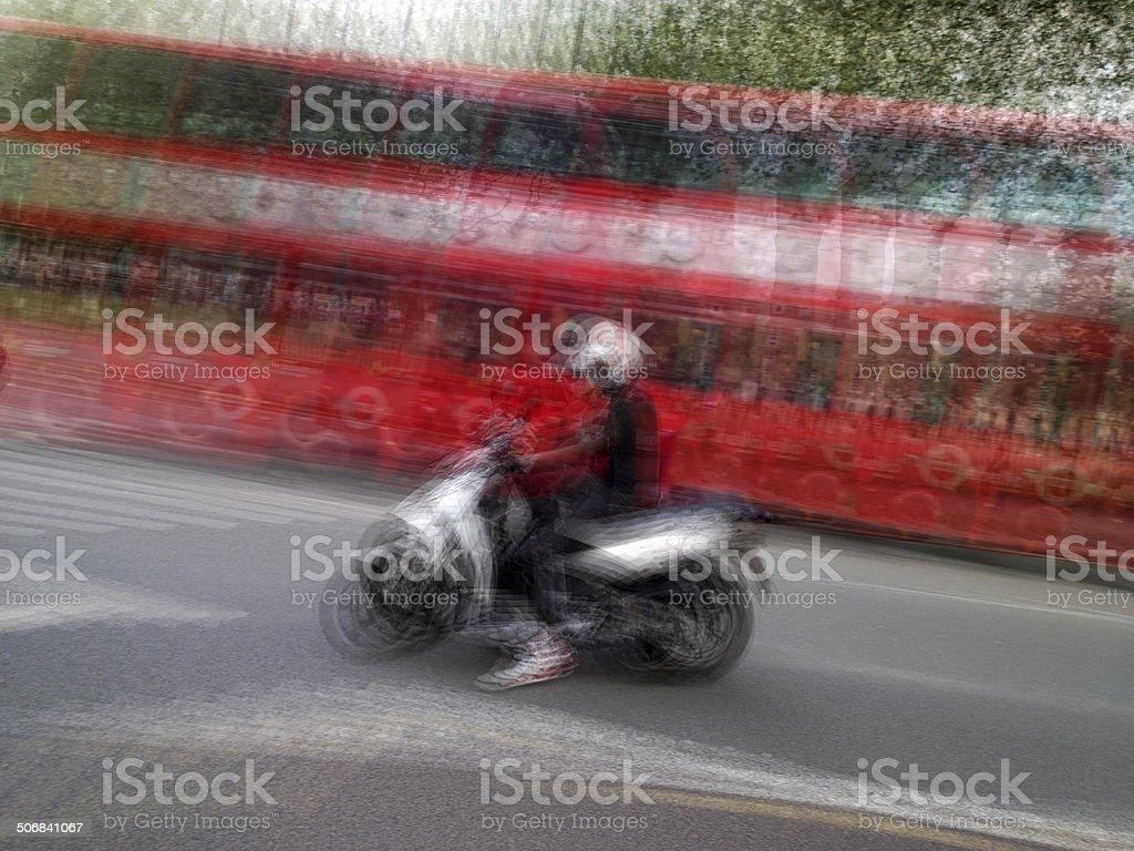 Motorcyclist royalty-free stock photo