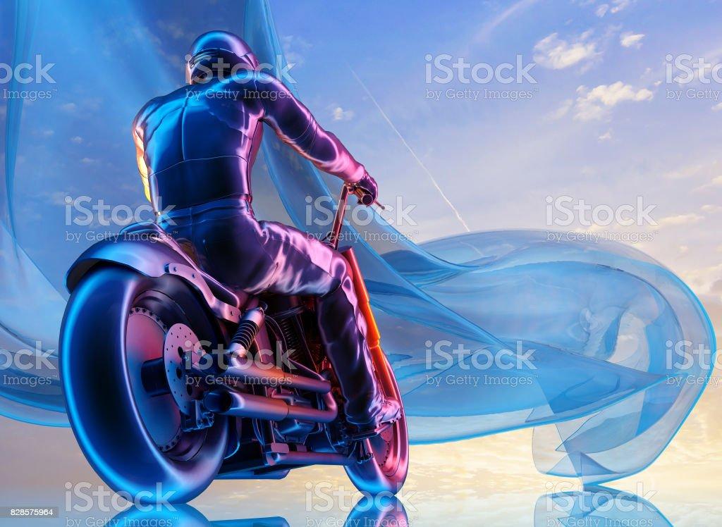 Motorcyclist stock photo