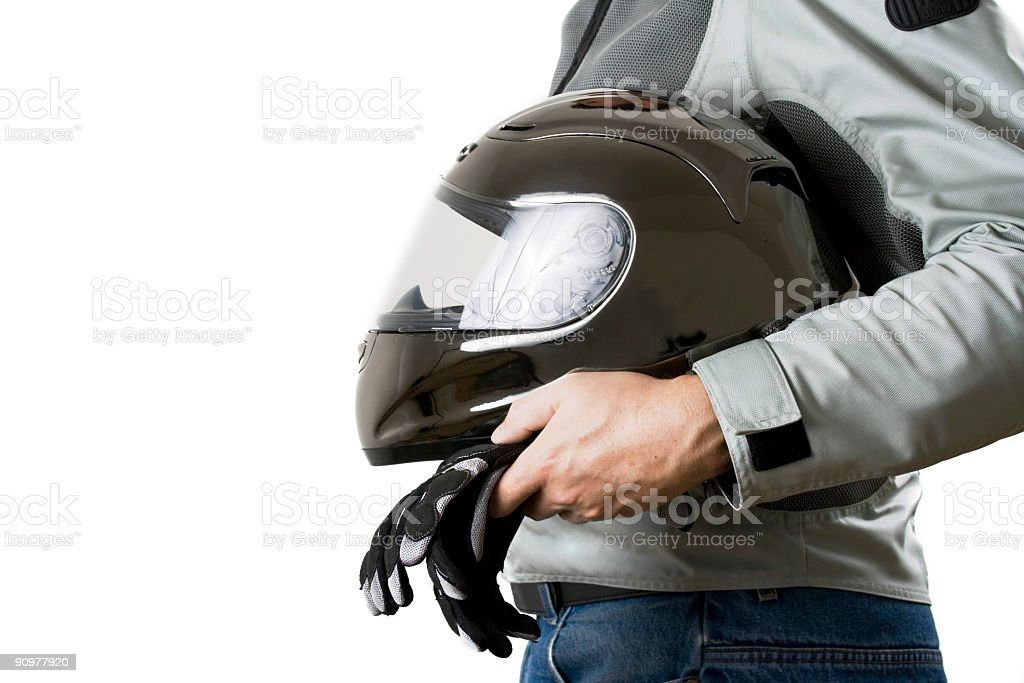 Motorcyclist royalty-free stock photo