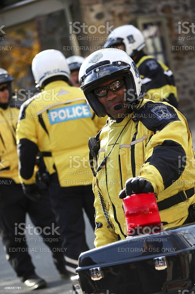 Motorcyle Police Officer closeup royalty-free stock photo