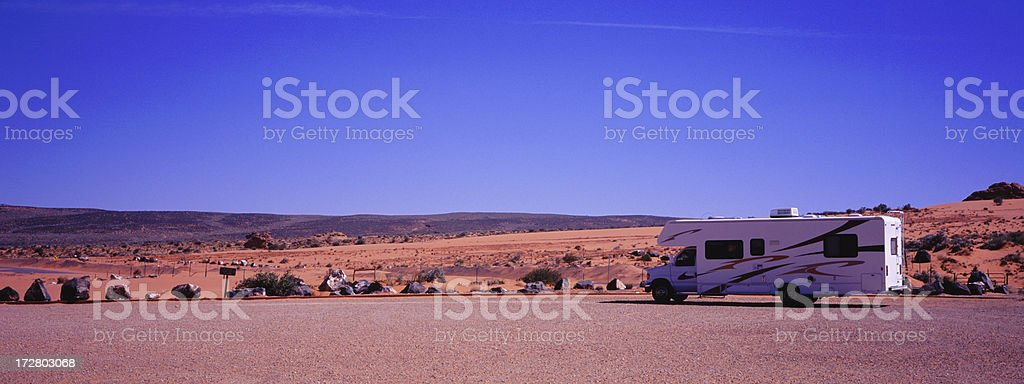 Motorhome in Southwest stock photo