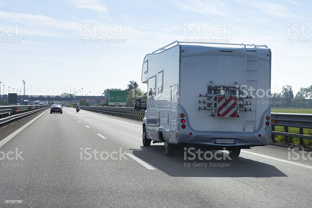 Motorhome on road royalty-free stock photo