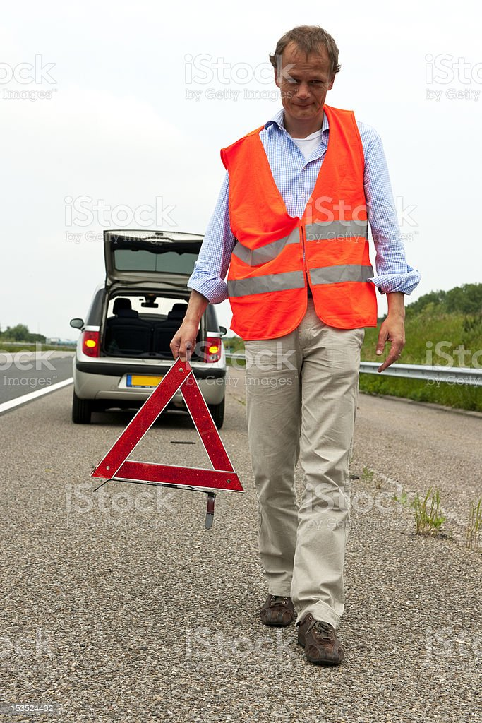 Motoring safety royalty-free stock photo
