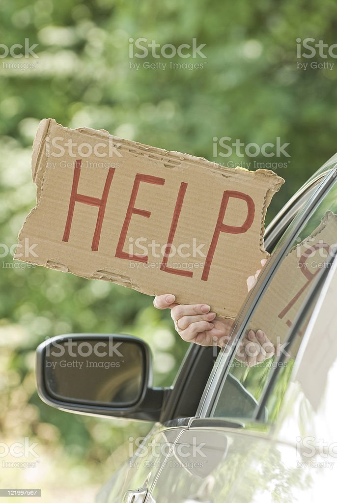 Motorist Needs Help stock photo