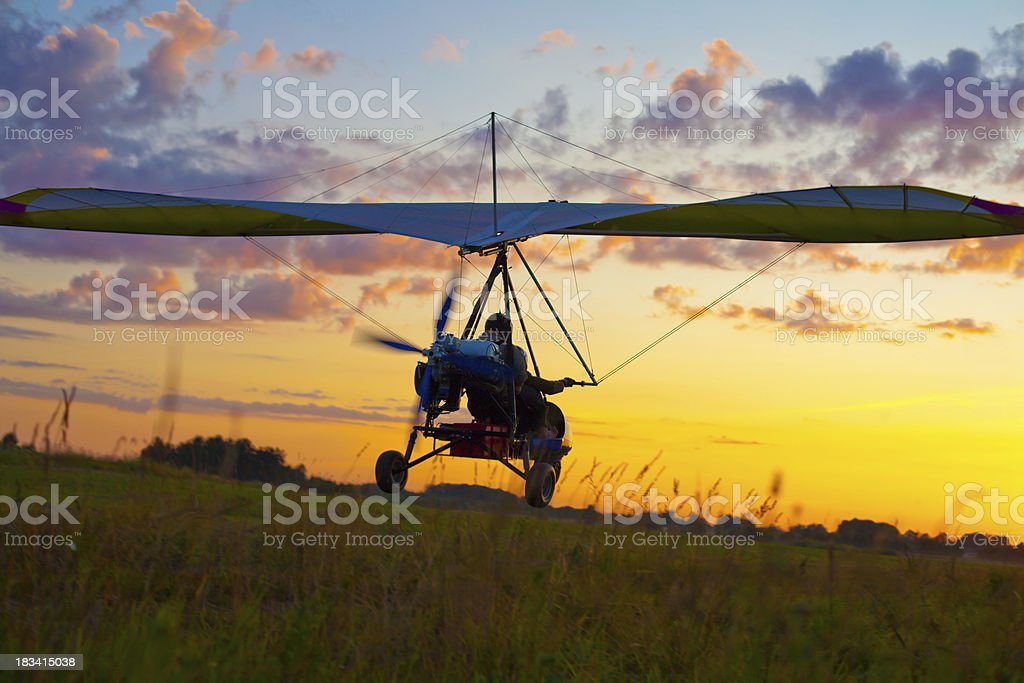 Motorized glider royalty-free stock photo