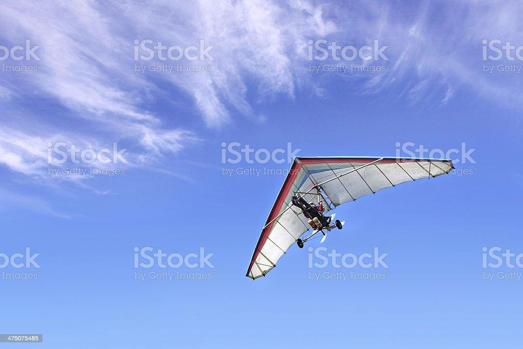 Motorized hang glider stock photo