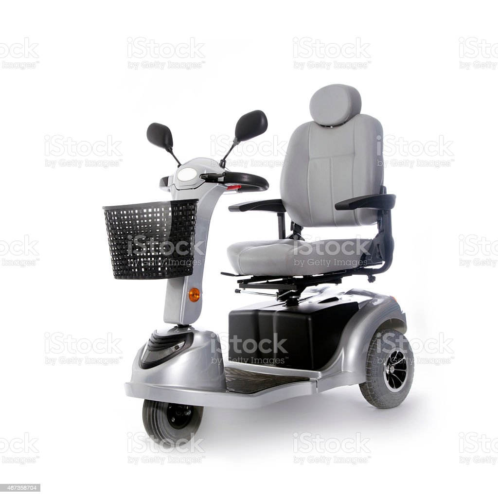 motorized mobility scooter fot elderly people stock photo