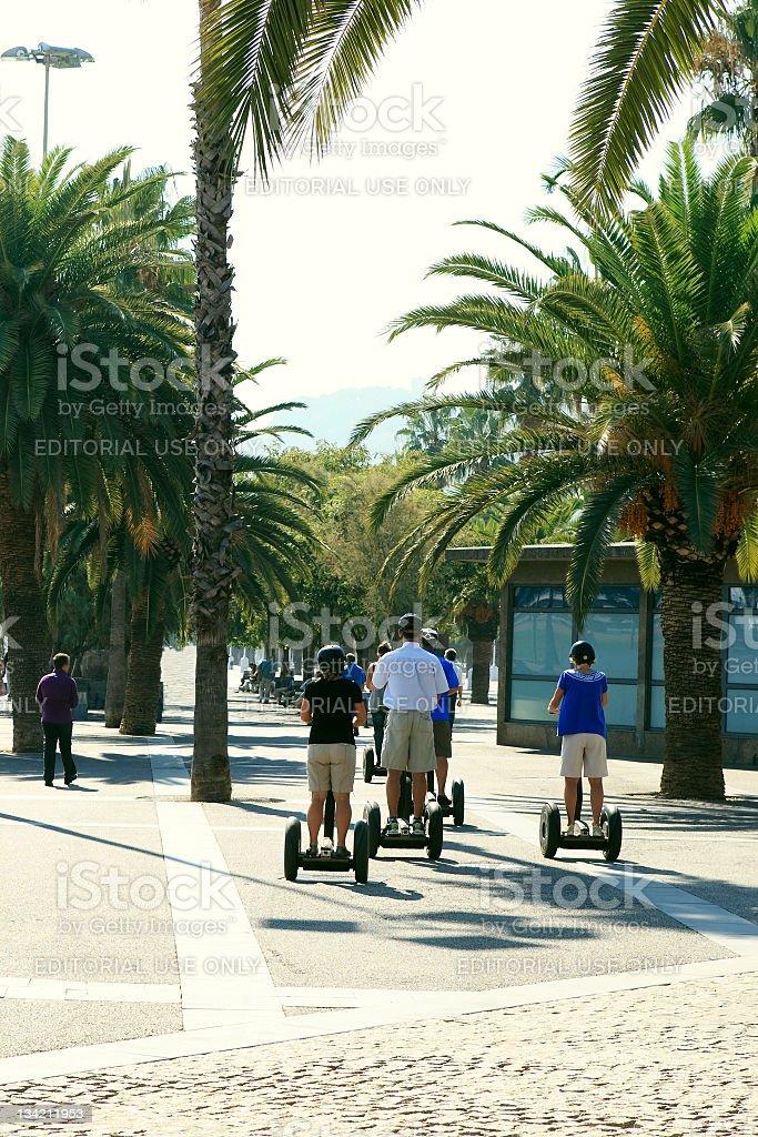Motorized Segway Transporters royalty-free stock photo