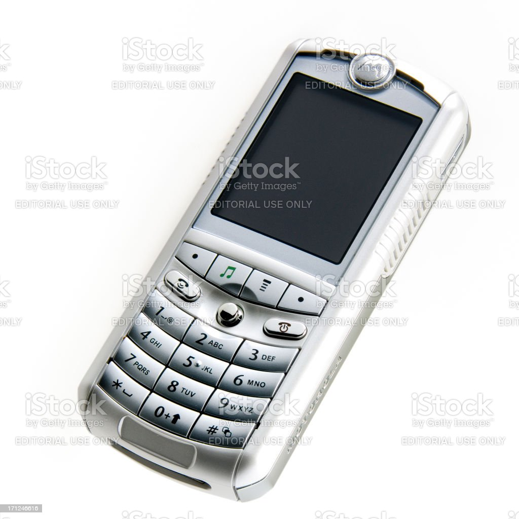 Motorola mobile phone stock photo