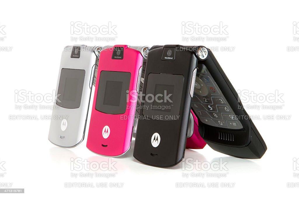 Motorola Razor Mobile Phones stock photo