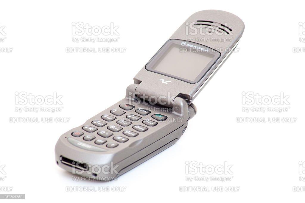 Motorola V-Series retro flip phone stock photo