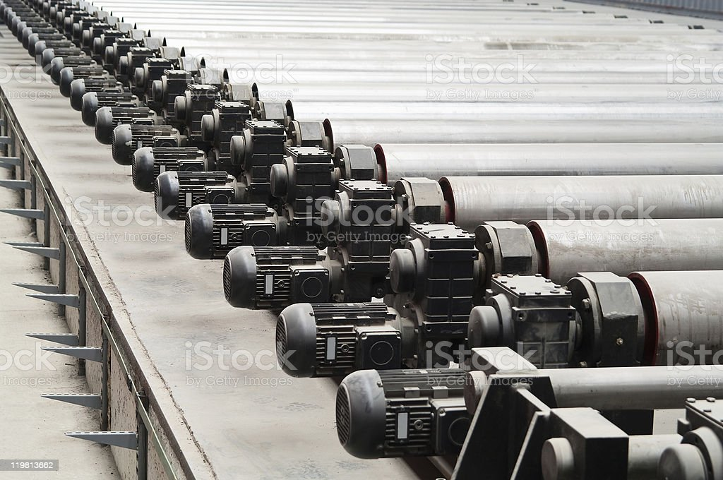 Motors of rolling mill in factory royalty-free stock photo