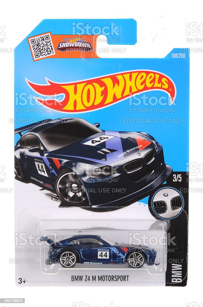BMW Z4 M Motorsport Hot Wheels Diecast Toy Car stock photo
