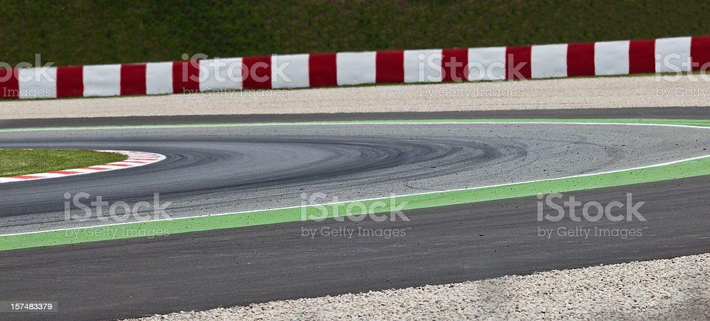 Detail of a motorsport racing circuit