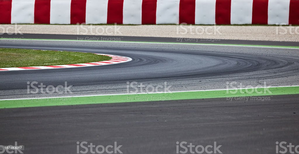 A Motorsport racetrack road for sport royalty-free stock photo