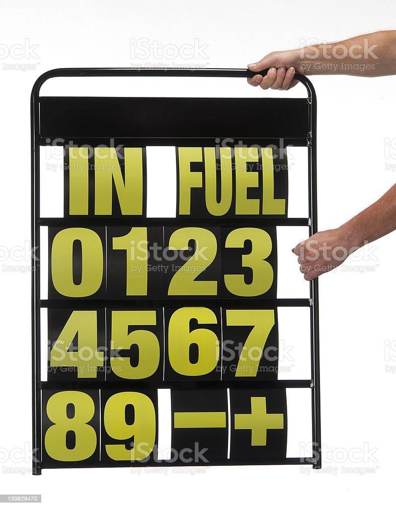 motor-sports pit display board stock photo