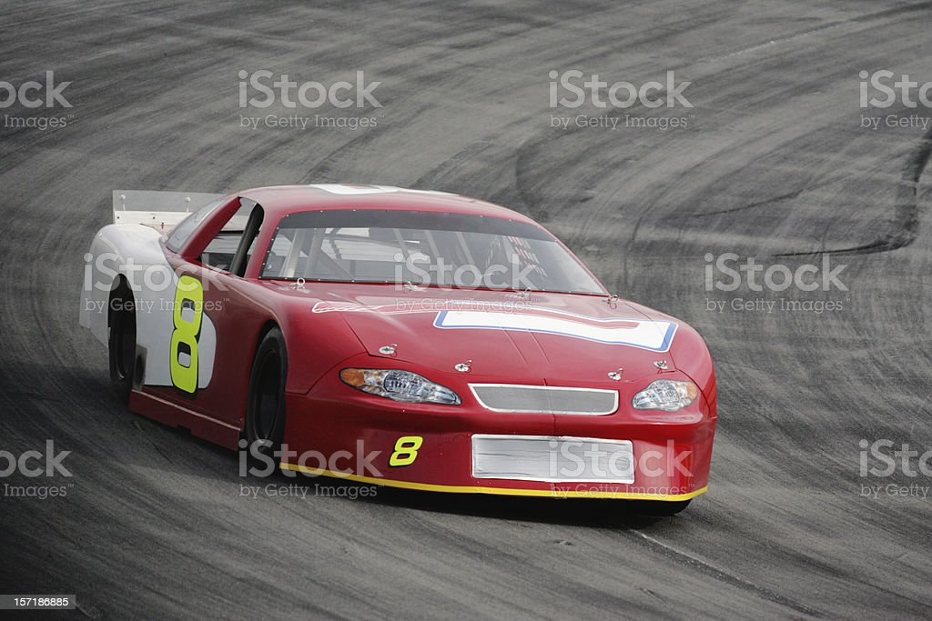 Motorsports-Red Race Car stock photo