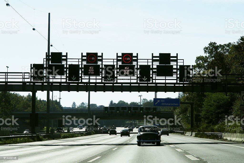 Autobahn A7 royalty-free stock photo