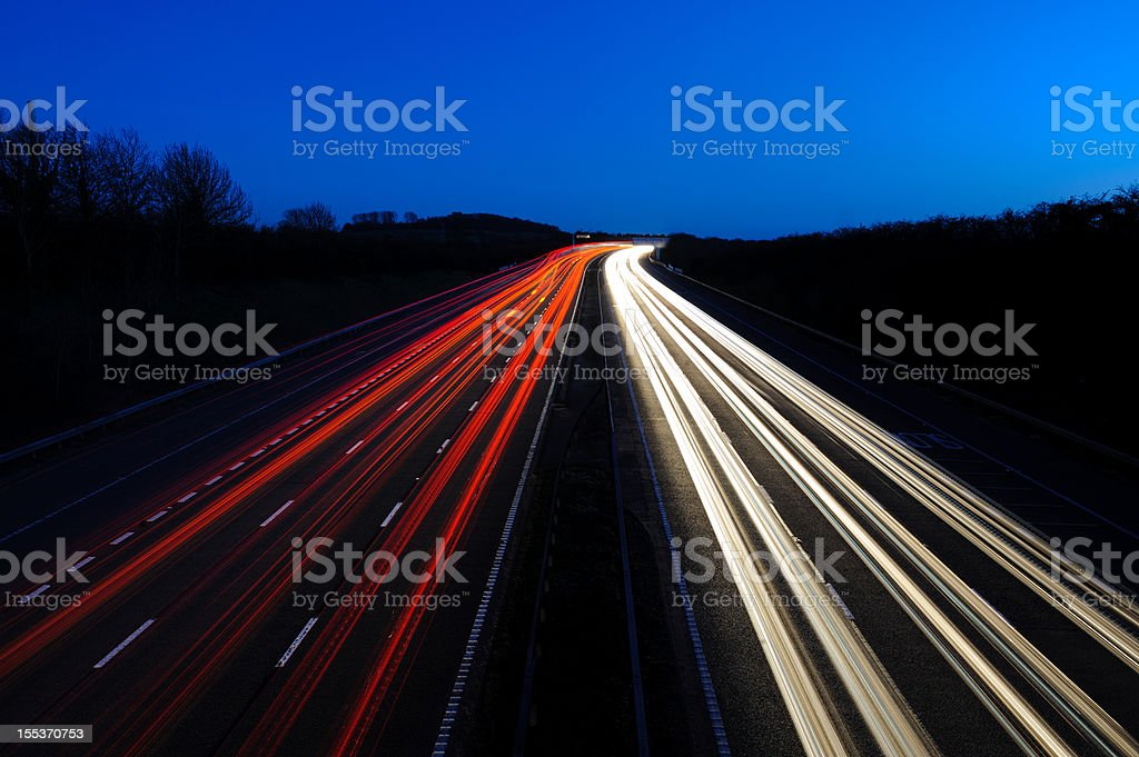 Motorway at Dusk stock photo