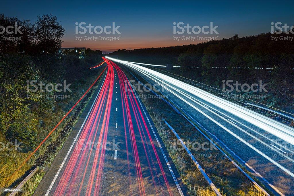 Motorway at twilight royalty-free stock photo