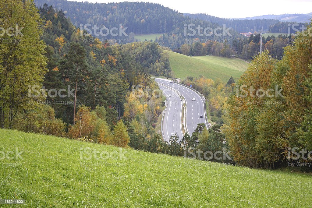 motorway by nature stock photo