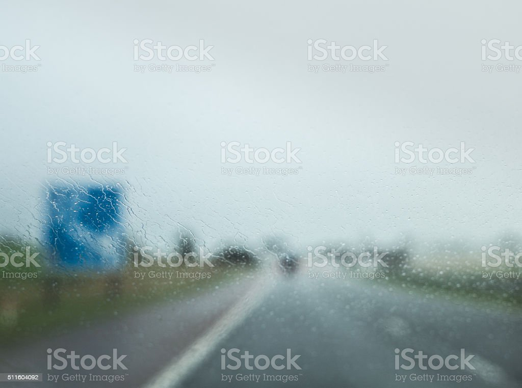 UK motorway driving abstract stock photo