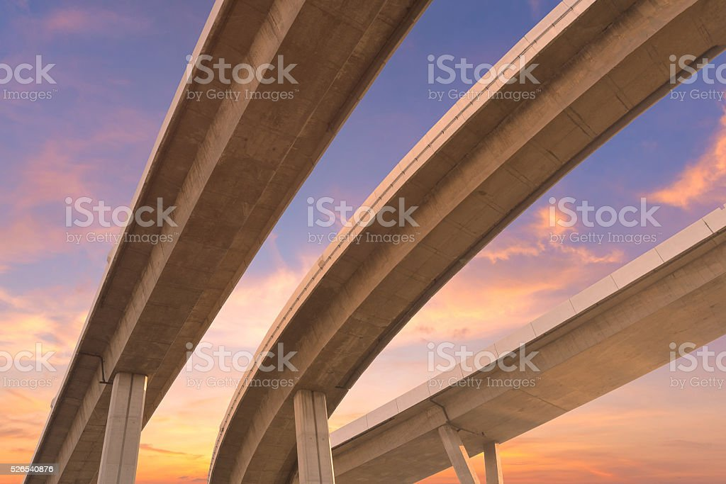 Motorway, Expressway, Freeway the infrastructure for transportation stock photo