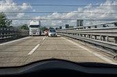 Motorway from the rear window