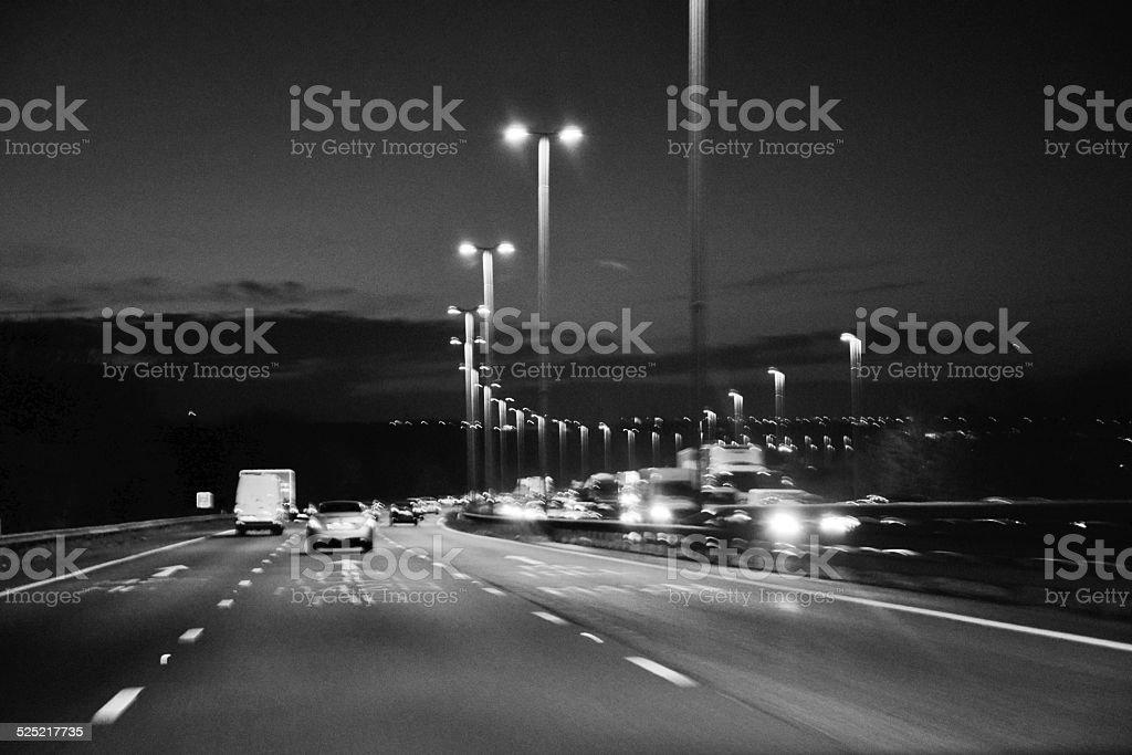 motorway glow stock photo