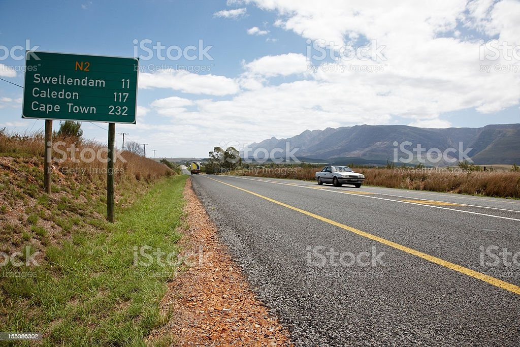 N2 motorway going west towards Cape Town royalty-free stock photo