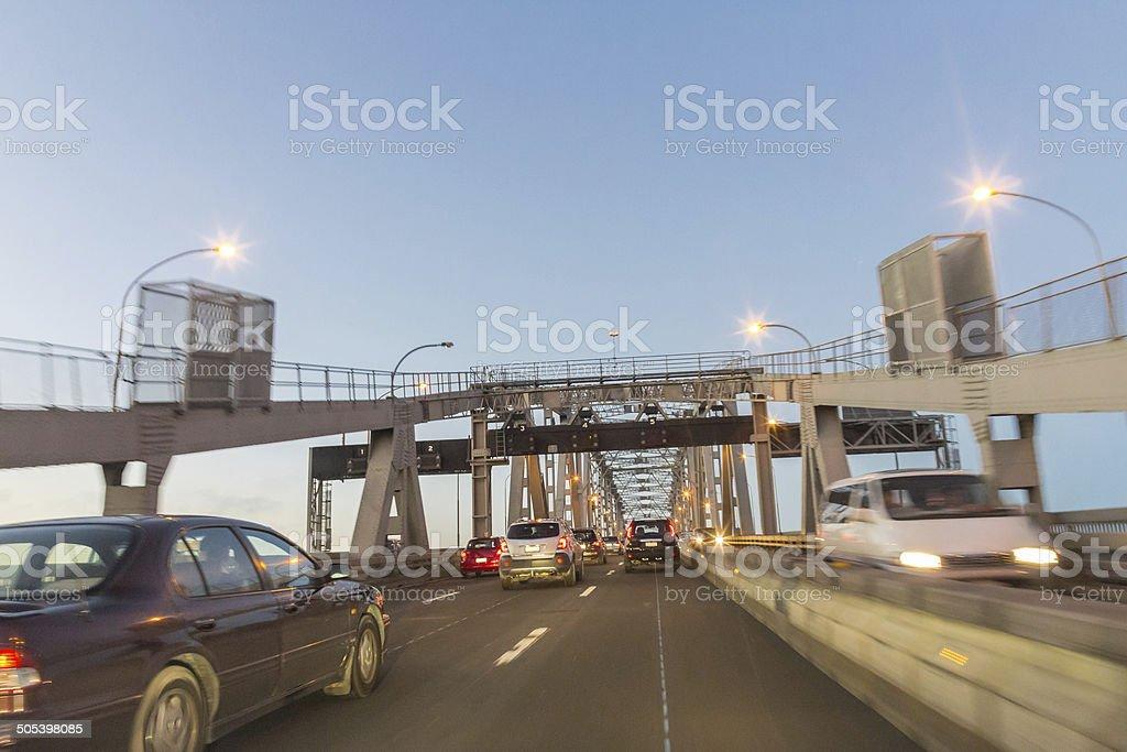 Motorway in Auckland stock photo