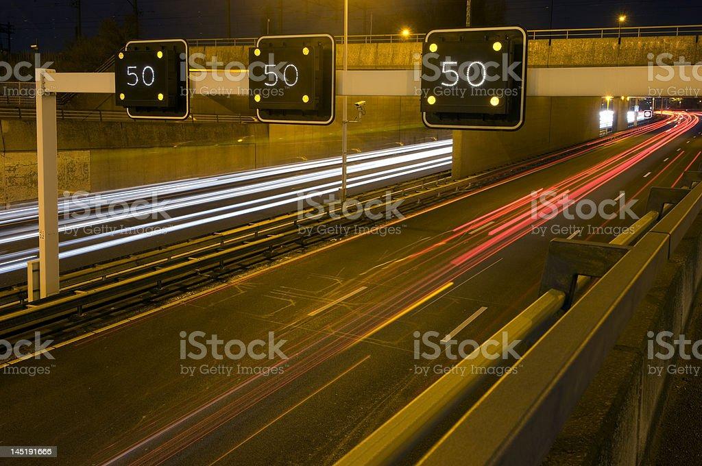 Motorway Information System royalty-free stock photo