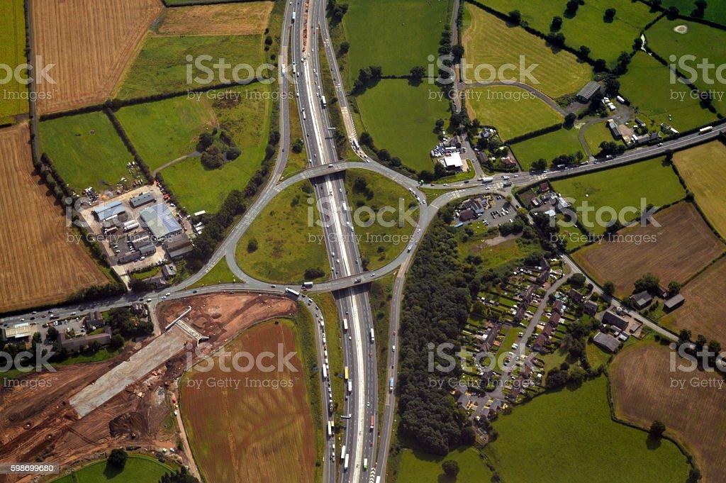 M6 Motorway - Junction 19 stock photo