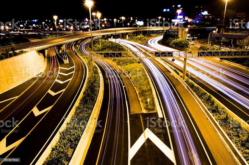 Motorway Junction Traffic royalty-free stock photo