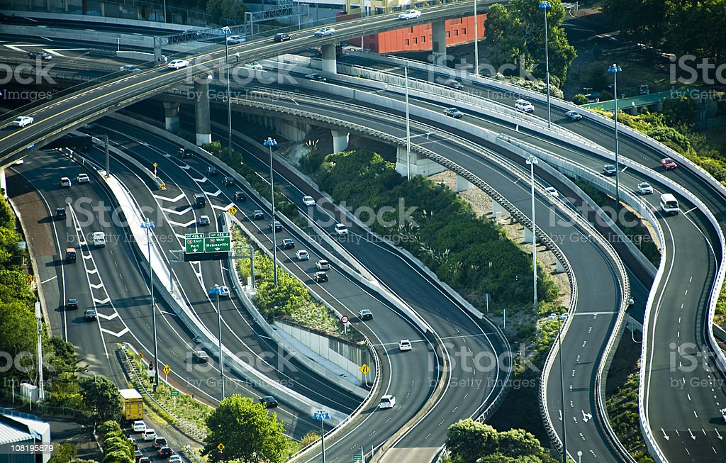 Motorway Junctions royalty-free stock photo