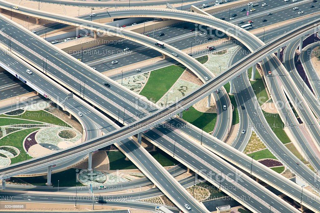 Motorway Junctions stock photo