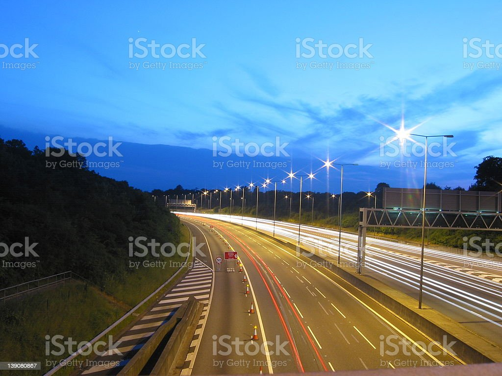 Motorway Long Exposure royalty-free stock photo
