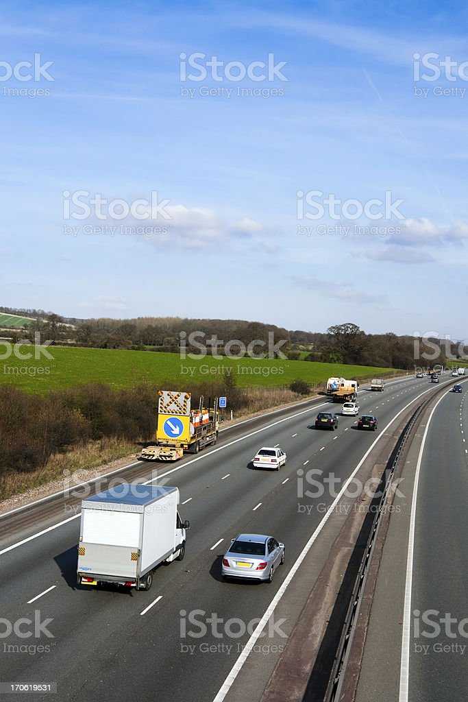 Motorway royalty-free stock photo