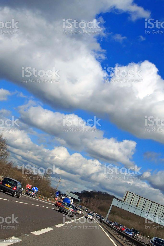 Motorway royalty-free stock photo