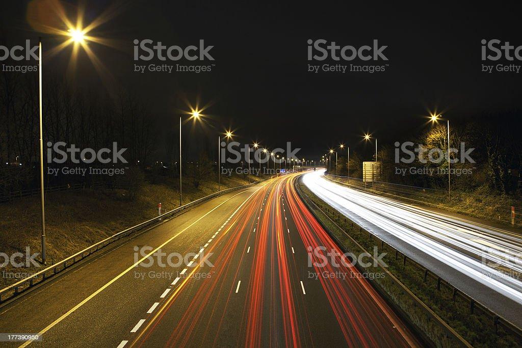 M6 motorway stock photo