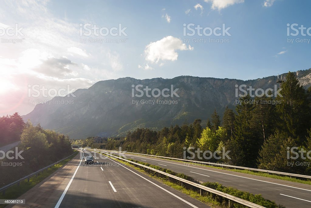 Autobahn stock photo