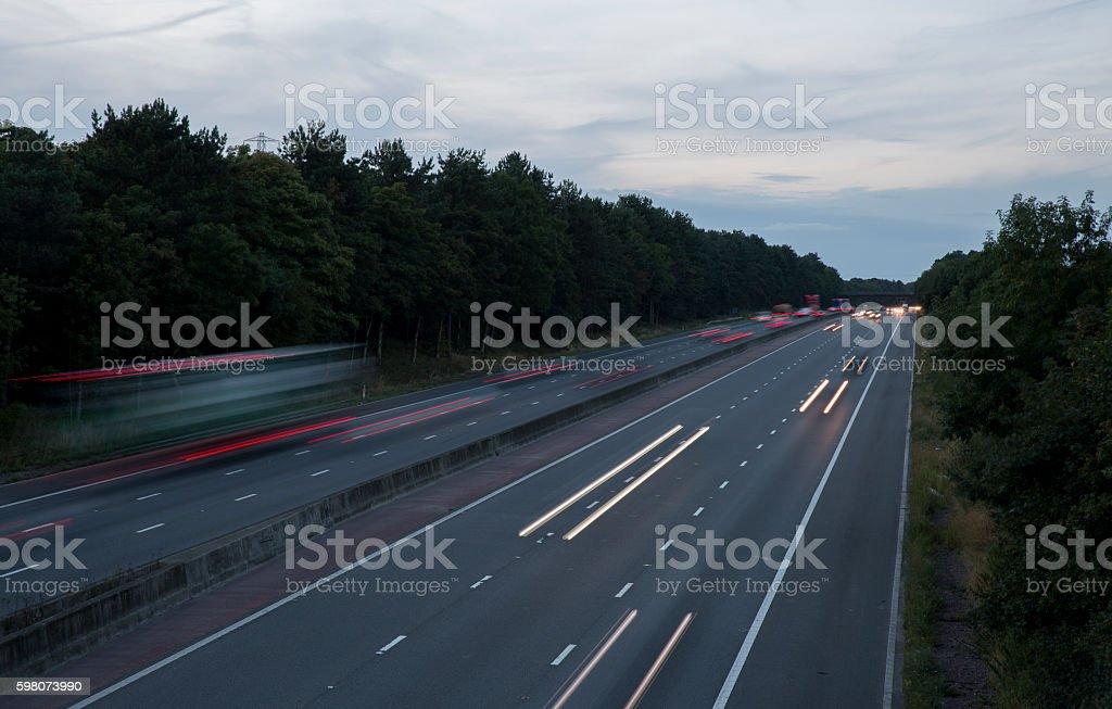 M1 Motorway stock photo