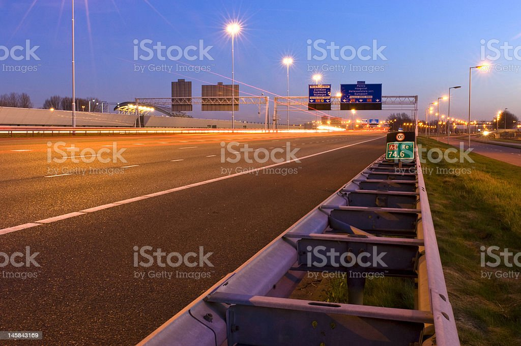 Motorway Safety Bariier royalty-free stock photo
