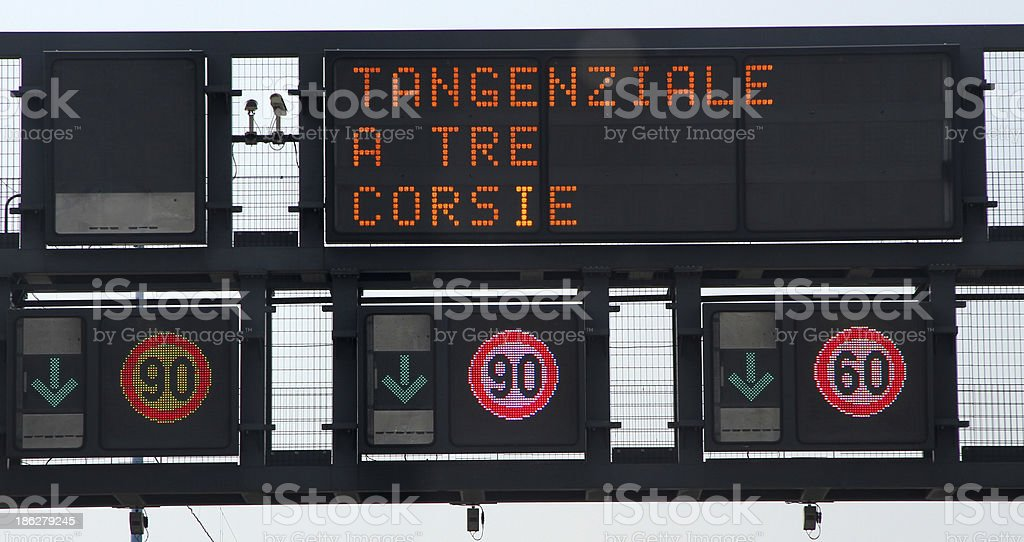 motorway sign traffic signs and speed limits stock photo